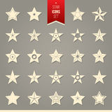 Set of star icons. Vector set of star icons. Set of isolated star pictogram Stock Image