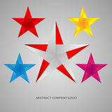 Set Star logo. Colored abstract vector company sign Stock Images