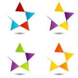 Set of star logos Stock Image