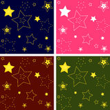 Set of star patterns Stock Images