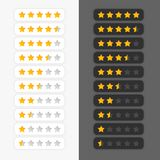 Set of star rating symbols. Vector vector illustration