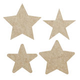 Set star recycled paper craft on white paper background,  Stock Photos