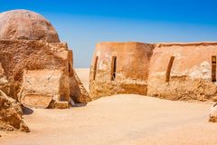Set for the Star Wars movie still stands in the Tunisian desert Royalty Free Stock Image