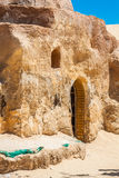 Set for the Star Wars movie still stands in the Tunisian desert Royalty Free Stock Photo