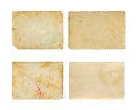 Set Stara fotografia papieru tekstura Zdjęcia Stock