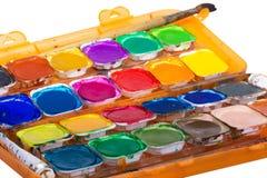 Set stare farby odizolowywać na białym tle Obrazy Royalty Free