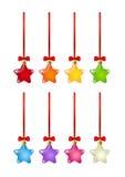 Set of starry Christmas decorations. On white background stock illustration