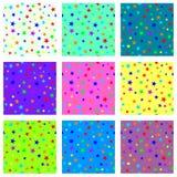 Set of starry seamless textures Stock Photos