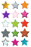 Set stars Royalty Free Stock Image