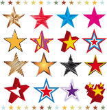 Set of stars Stock Photo