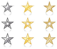 A set of stars Stock Photo
