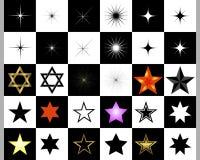 Set of stars. Stock Image