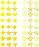 Set of stars Stock Photos