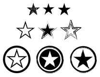 Set of stars royalty free illustration