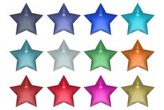 Set of Stars Stock Image