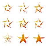 Set of Stars. Set of decorative and creative five cornered/pentagonal stars Stock Photo