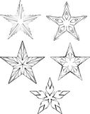 Set of stars Royalty Free Stock Images