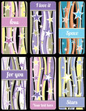 Set of stars background labels. For cover phone No.06 Royalty Free Stock Photos