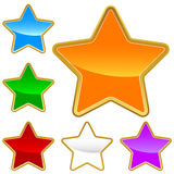 A set of stars Royalty Free Stock Images