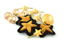 Set of stars and buttons Royalty Free Stock Image