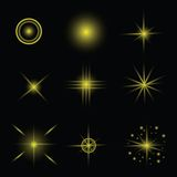 Set of stars. Colorful illustration with set of stars on a dark background for your design vector illustration