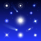 Set of stars Royalty Free Stock Photography