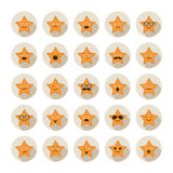 Set of stars with different emotions Royalty Free Stock Photo