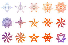 Set of stars. Geometric shapes. Vector Stock Photos