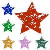 A set of stars Royalty Free Stock Photos