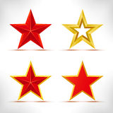 Set of stars. Royalty Free Stock Images