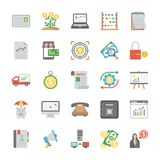 Set of Startup and New Business Flat Vector Icons. The creative and colorful Line icons set of seo and web optimization is one of its kind. Each icon in the set Royalty Free Stock Image