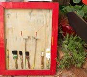 Set stary muśnięcie dla barwić Obrazy Stock