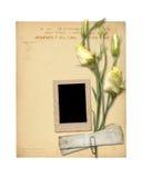 Set starzy archiwalni papiery i rocznik pocztówka Fotografia Royalty Free