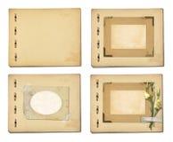 Set starzy archiwalni papiery i rocznik pocztówka z bukietem Fotografia Royalty Free