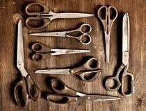 Set starzy nożyce Obraz Stock