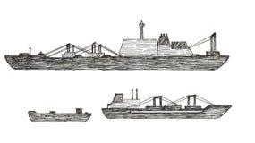 Set statek Zdjęcia Royalty Free