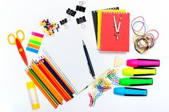 Set of stationary objects Royalty Free Stock Photos