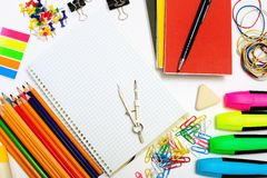 Set of stationary objects Royalty Free Stock Photo