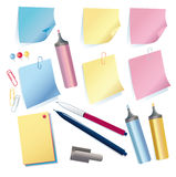Set of stationeries Royalty Free Stock Photos