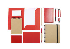 A set of stationery for the application of your logo. Royalty Free Stock Photo