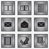 Set of 9 stationery icons Royalty Free Stock Photos