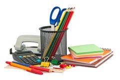 Set of stationery items. Stock Photos