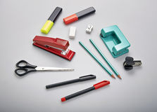 Set of stationery items Stock Images