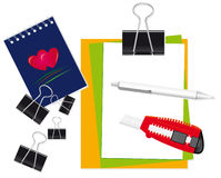 A set of stationery for the office Royalty Free Stock Image