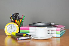 Set of stationery and office equipment Stock Photography