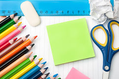 Set of stationery school and office tools Stock Photography
