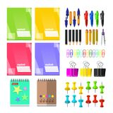 A set of stationery for schoolchildren. Goods for creativity and study Royalty Free Stock Photography