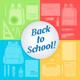 A set of stationery for schoolchildren. Goods for creativity and study, Back to school Stock Image