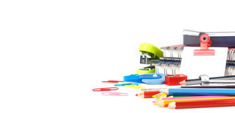 Set of stationery tool Stock Photos