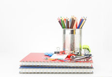 Set of stationery tool Royalty Free Stock Image